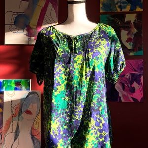 Izod floral print blouse
